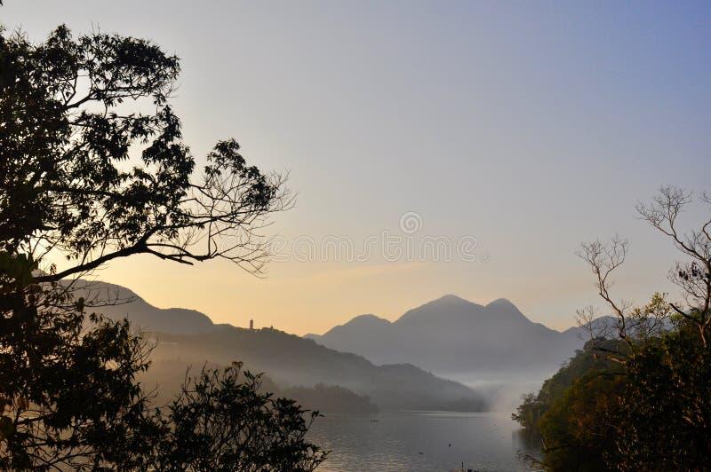 Morning in Sun Moon Lake stock image