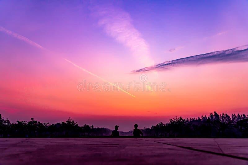 Morning sun and sky royalty free stock photos