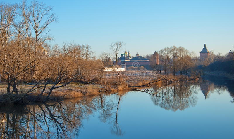 Morning in Suzdal stock images