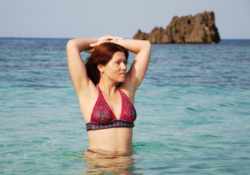 Download Morning Swim stock image. Image of beautiful, caribbean - 25764545