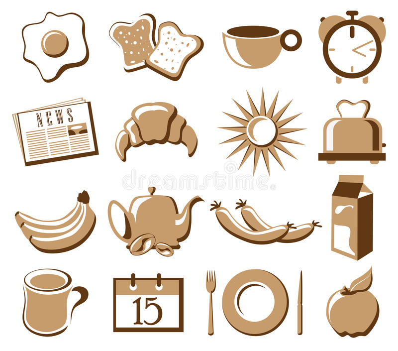 Download Morning symbol set stock vector. Image of cartoon, decoration - 30879980