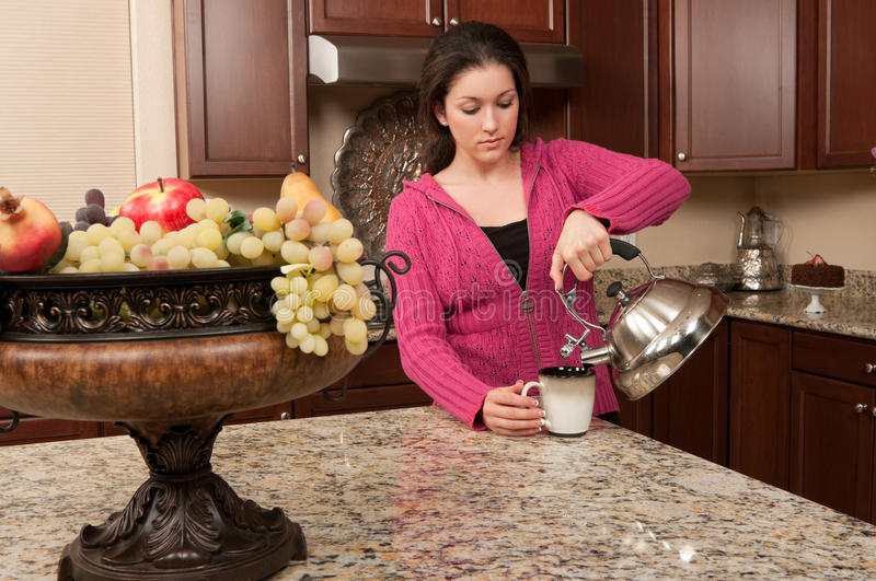 Download Morning Tea stock image. Image of drink, young, interior - 25206635