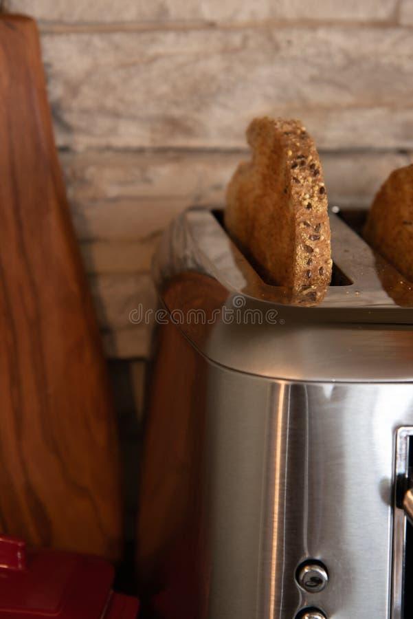 Morning toasted bread stock photos