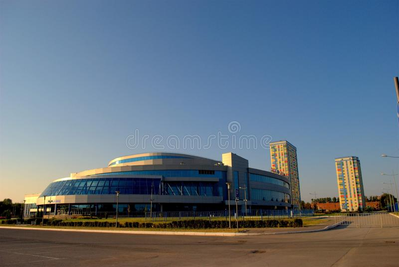 Morning view of the building of the ice palace Lada-Arena. stock image