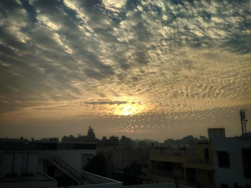 Morning view. A click from my mobile.. how much do you like it stock photos