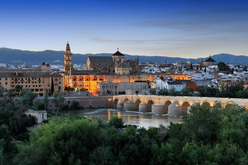 Morning view of Cordoba, Spain stock photo