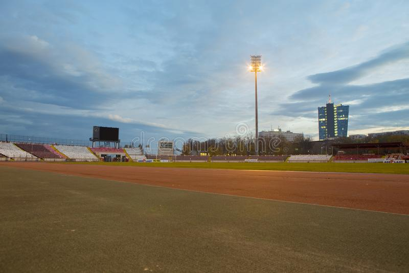 Morning view of Dinamo Bucuresti stadium royalty free stock photography