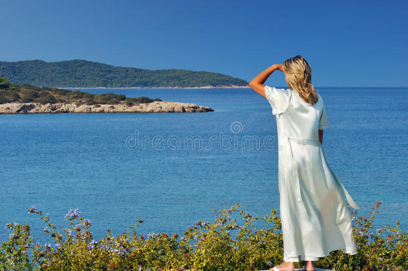 Morning view of the islands royalty free stock images