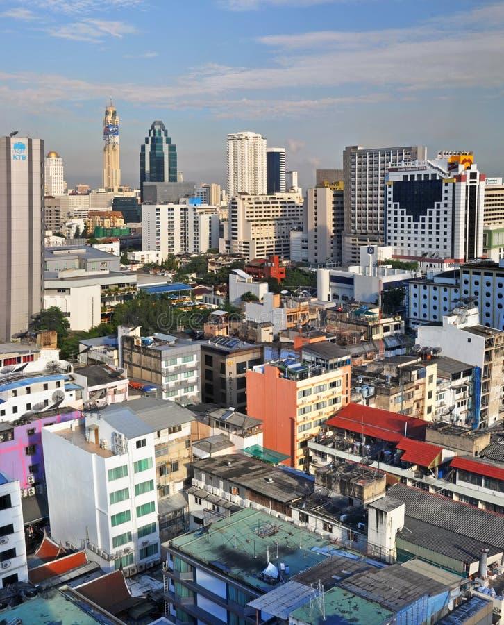 Morning view over the Sukhumvit Area of Bangkok royalty free stock photos