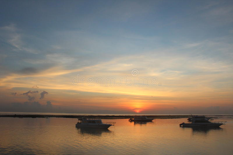 Morning view in Sanur royalty free stock photo