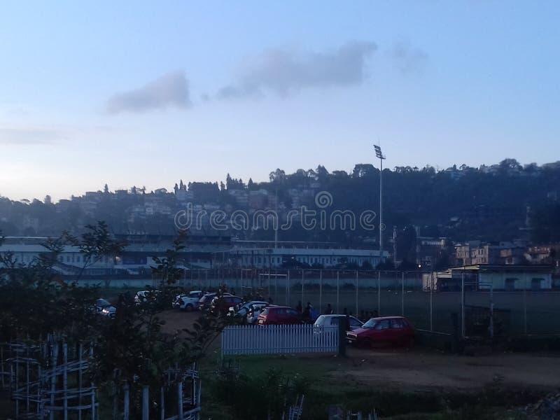 Morning view  of shillong stock photos