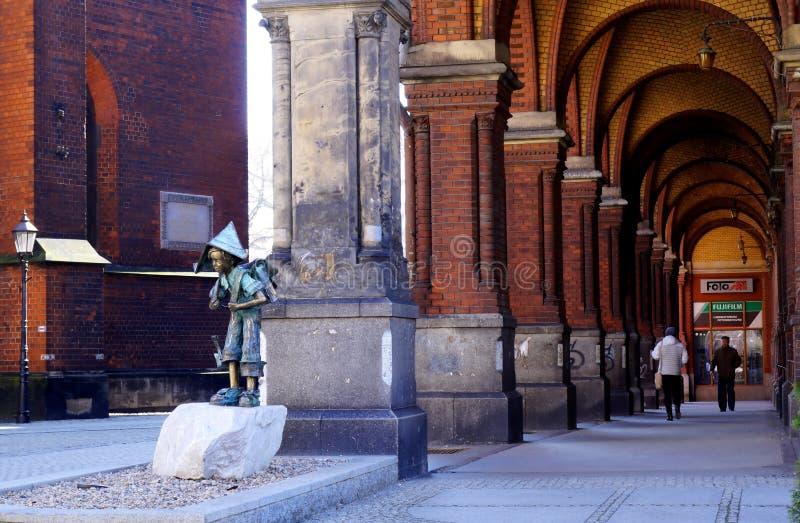 Morning walk in the city. Street scene of Legnica, Poland stock photo