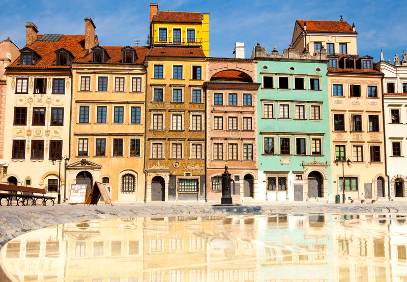Morning in Warsaw stock photography