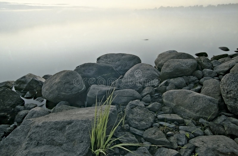 Morning water landscape stock images