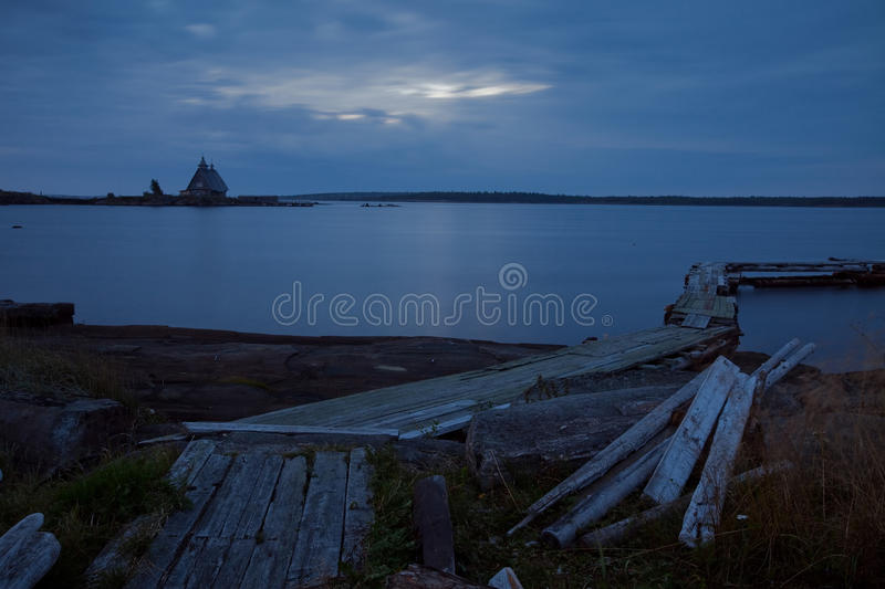 Morning on White Sea stock photography