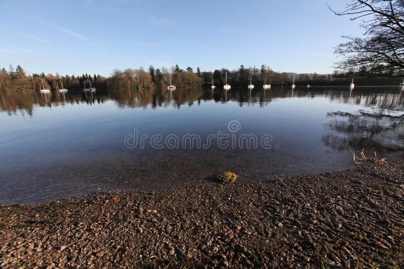 Download Morning on Windermere stock photo. Image of beach, morning - 12358924