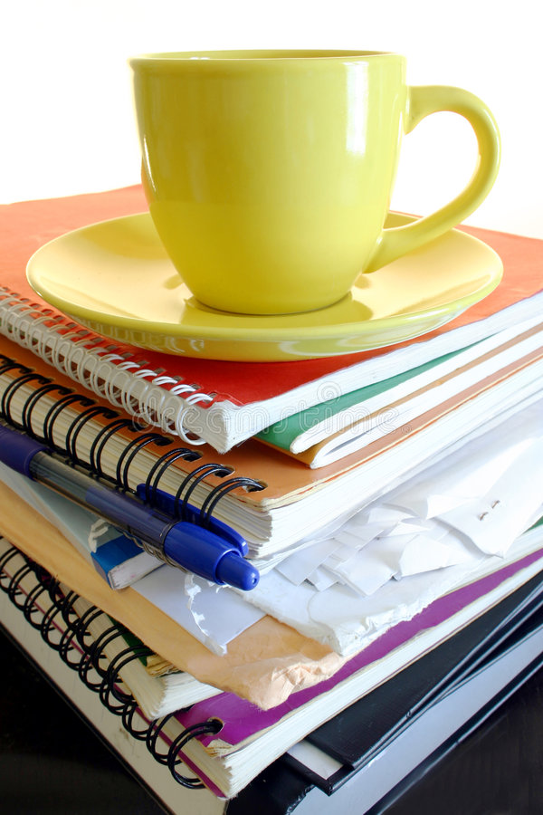 Morning Workload stock image
