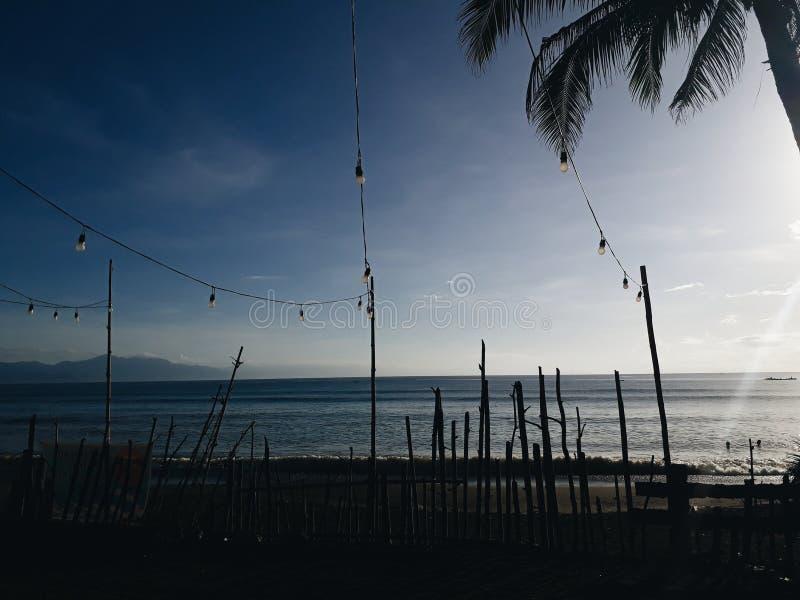 Mornings @ Baler, Aurora, Philippines. Beach royalty free stock image