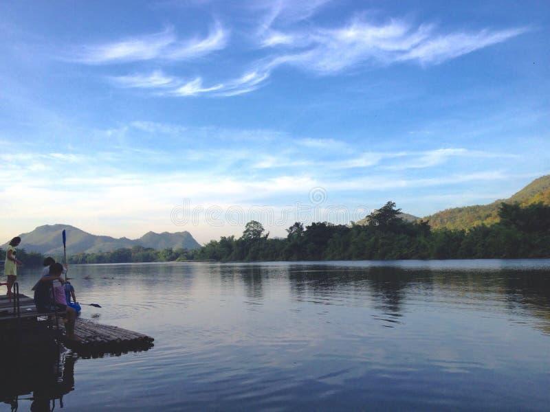 Mornings view lake stock photo