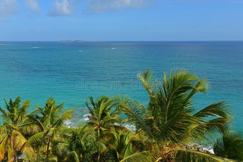 Morningstar fjärd, St Thomas, USA Jungfruöarna royaltyfri foto