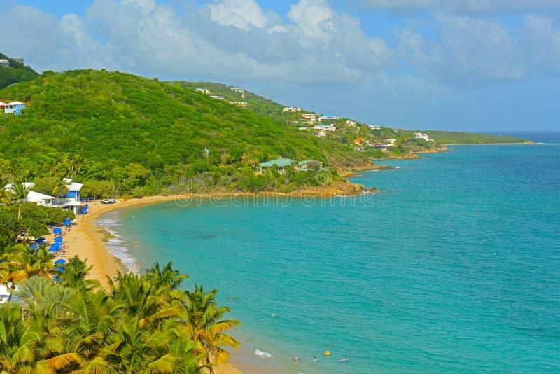 Morningstar fjärd, St Thomas, USA Jungfruöarna royaltyfri fotografi