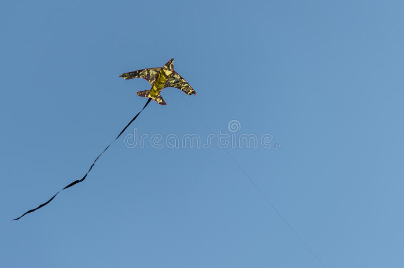 Moro kite flying in the wind with blue sky background.  stock images
