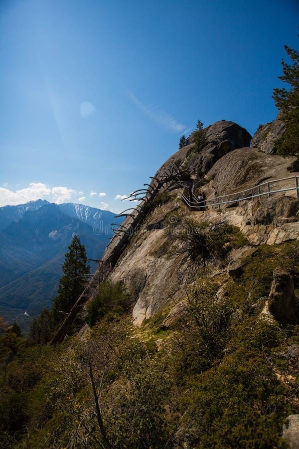 Moro Rock, parco nazionale della sequoia fotografia stock libera da diritti