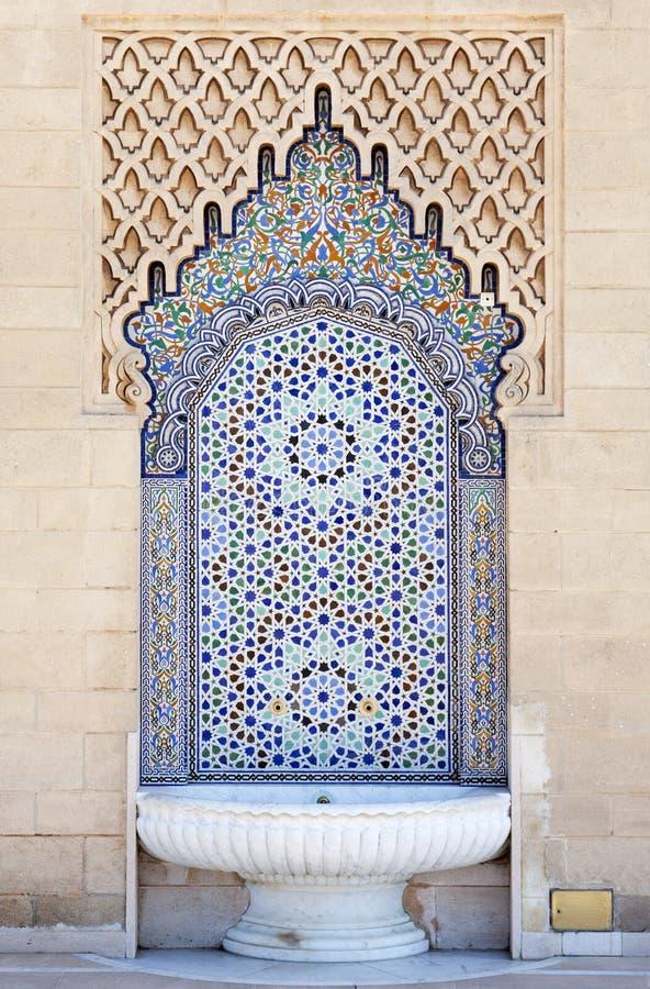 moroccan фонтана стоковые фото