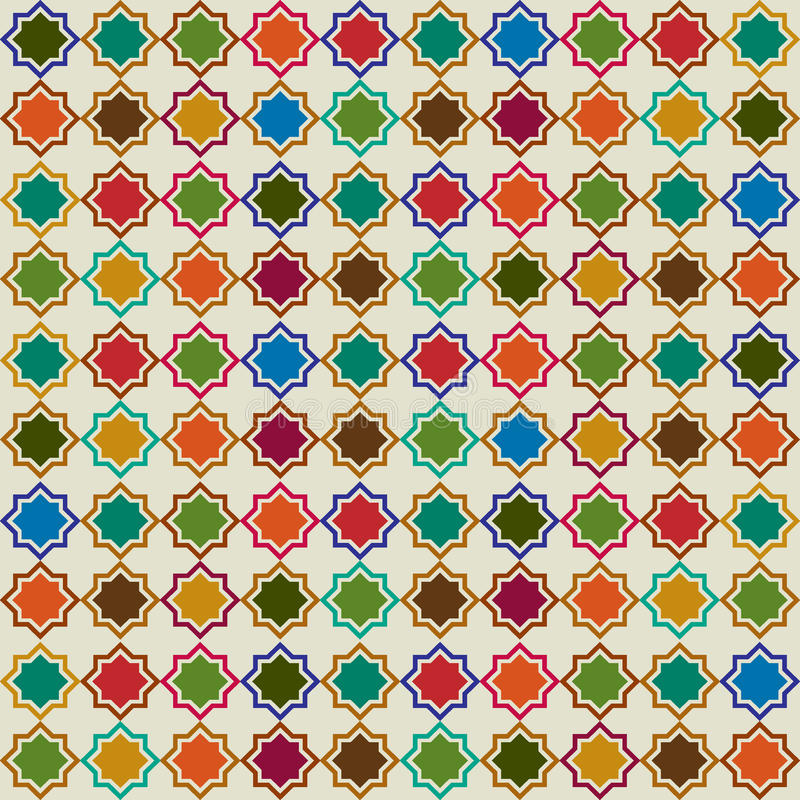 Moroccan abstract background pattern. Abstract Moroccan tile background pattern royalty free illustration