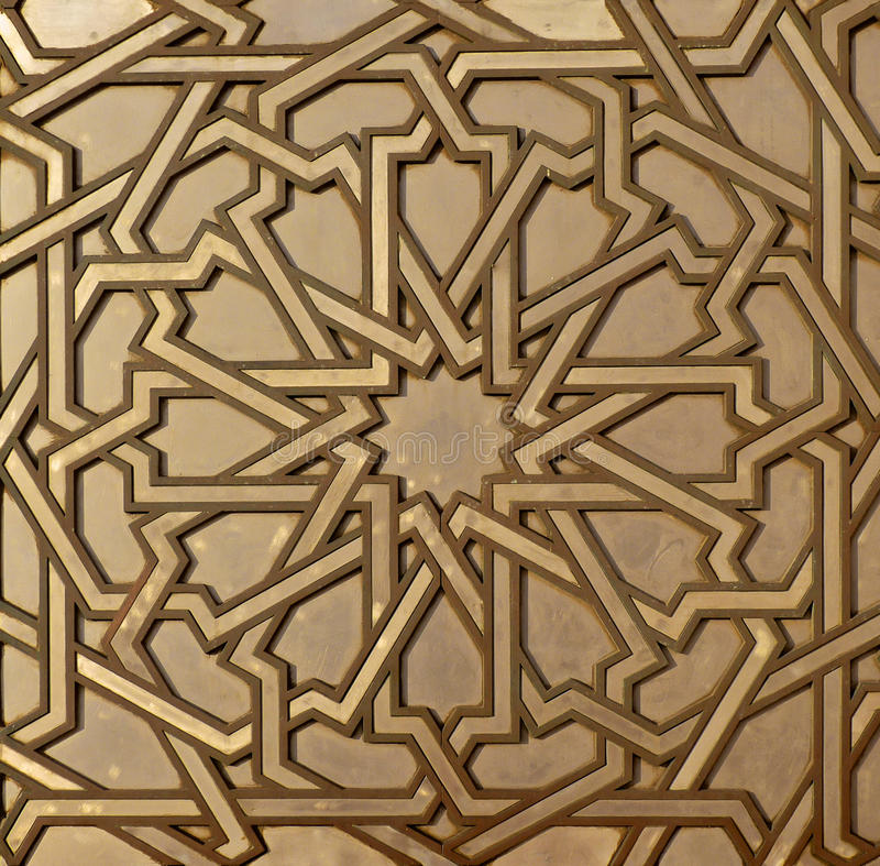 Moroccan Metal Arabesque stock image