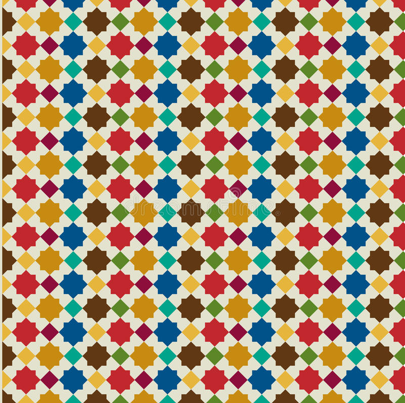 Moroccan background pattern. Abstract Moroccan tile background pattern vector illustration