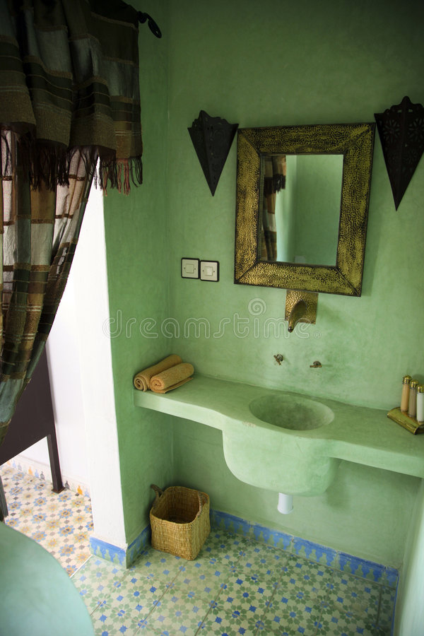 Moroccan Bathroom royalty free stock image