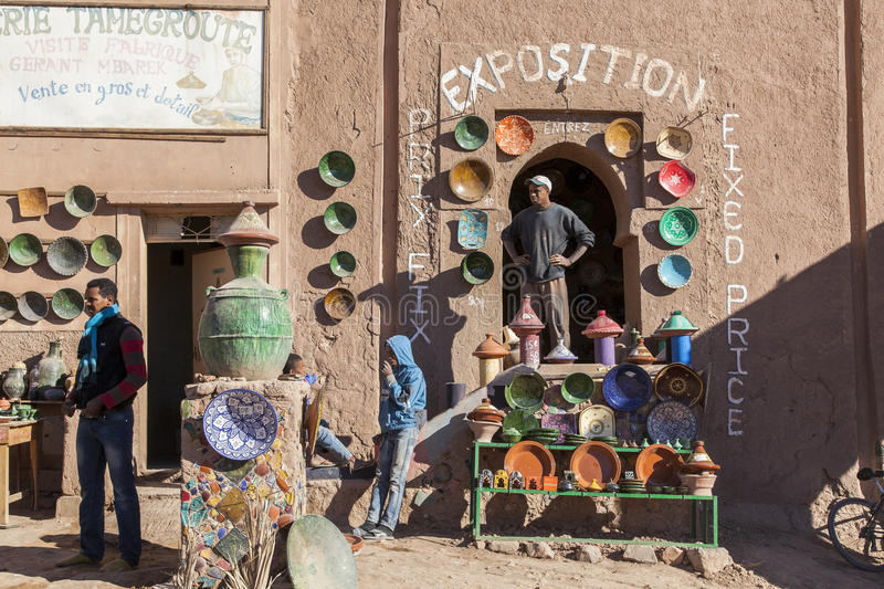 Download Moroccan Berber Pottery Workshop Editorial Photo - Image: 36874061