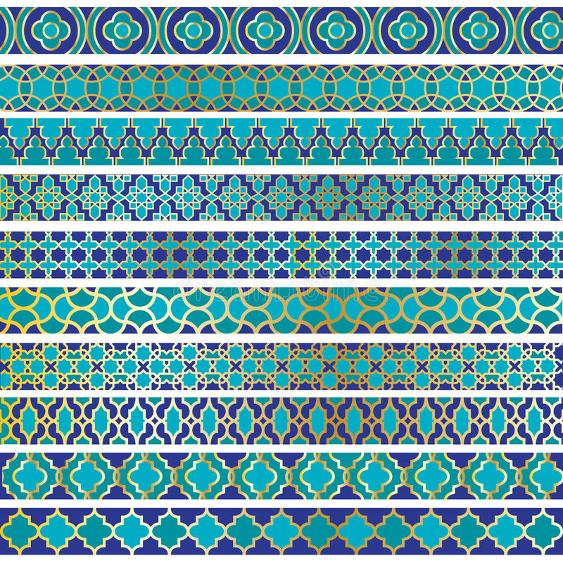 Moroccan Border Patterns stock images