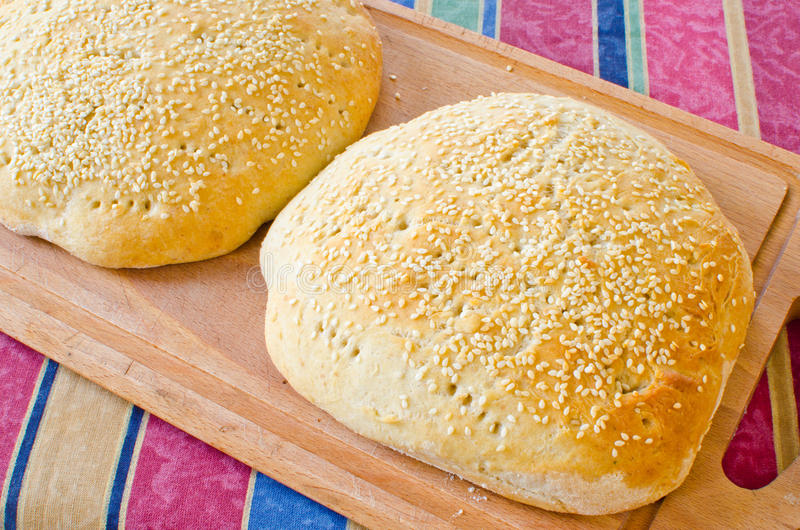 Download Moroccan bread stock photo. Image of yeast, sesame, loaf - 22766816