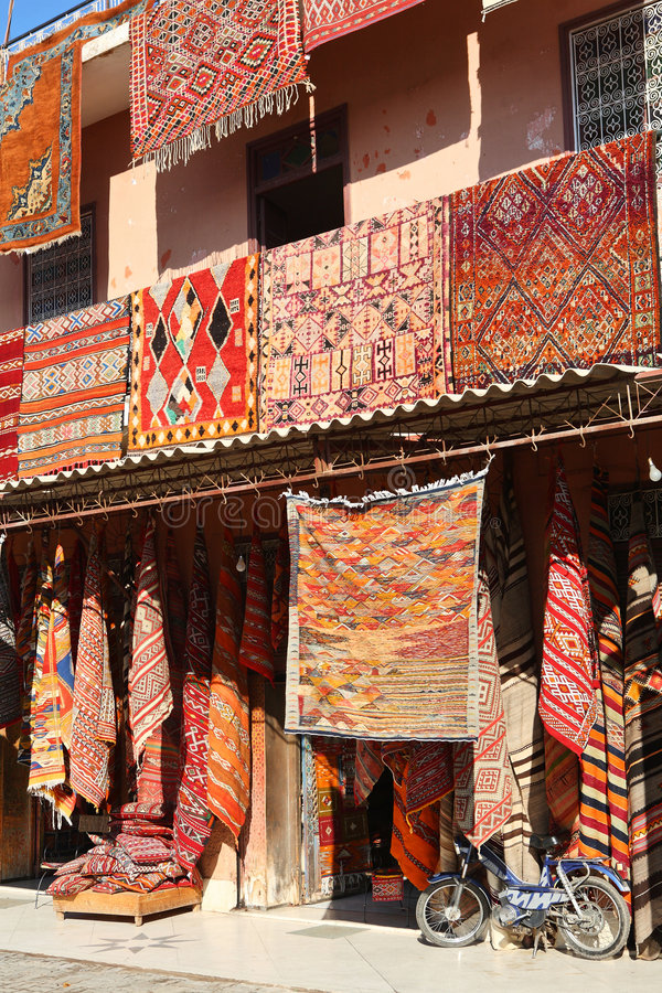 Moroccan Carpets Stock Images