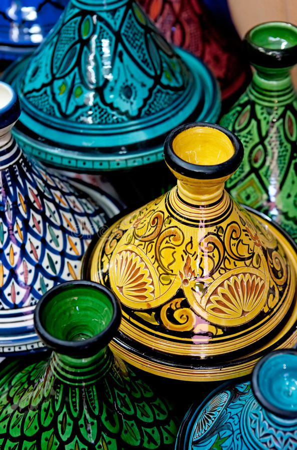 Download Moroccan Colorful Tagines stock photo. Image of marrakesh - 19210244