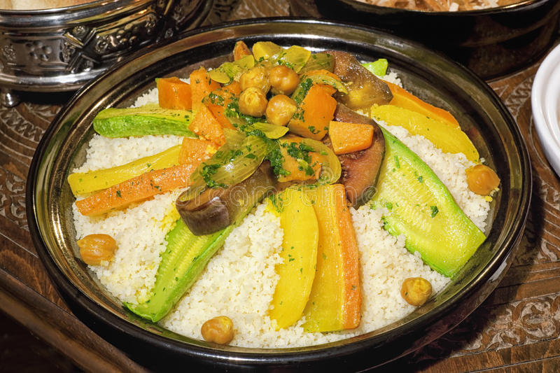Moroccan couscous. royalty free stock images