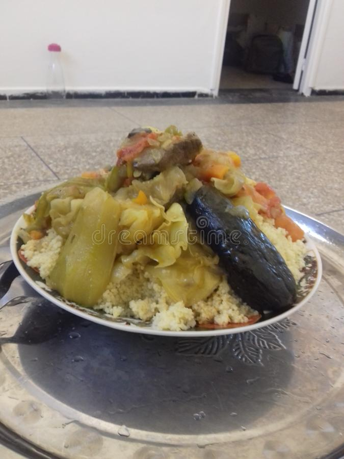 Moroccan couscous stock image
