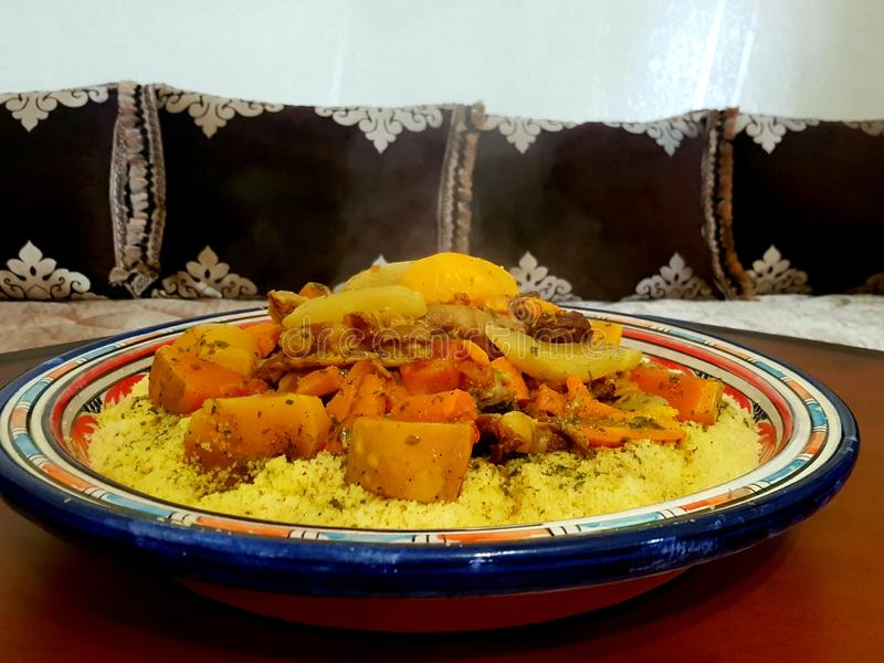 Moroccan couscous stock photography