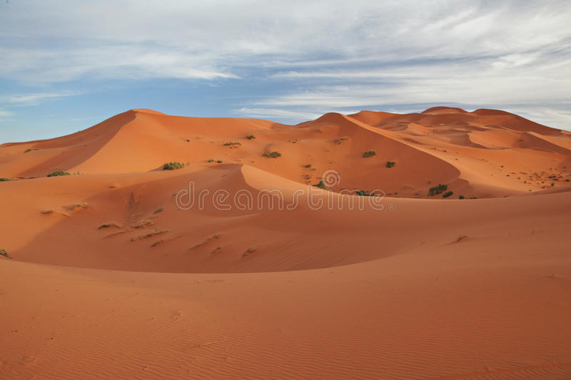 Moroccan desert landscape with blue sky. stock images