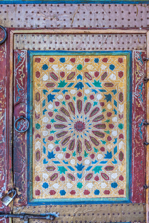 Moroccan door stock photography
