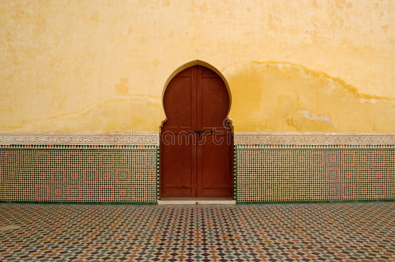 Moroccan Doorway. In a mosque royalty free stock image