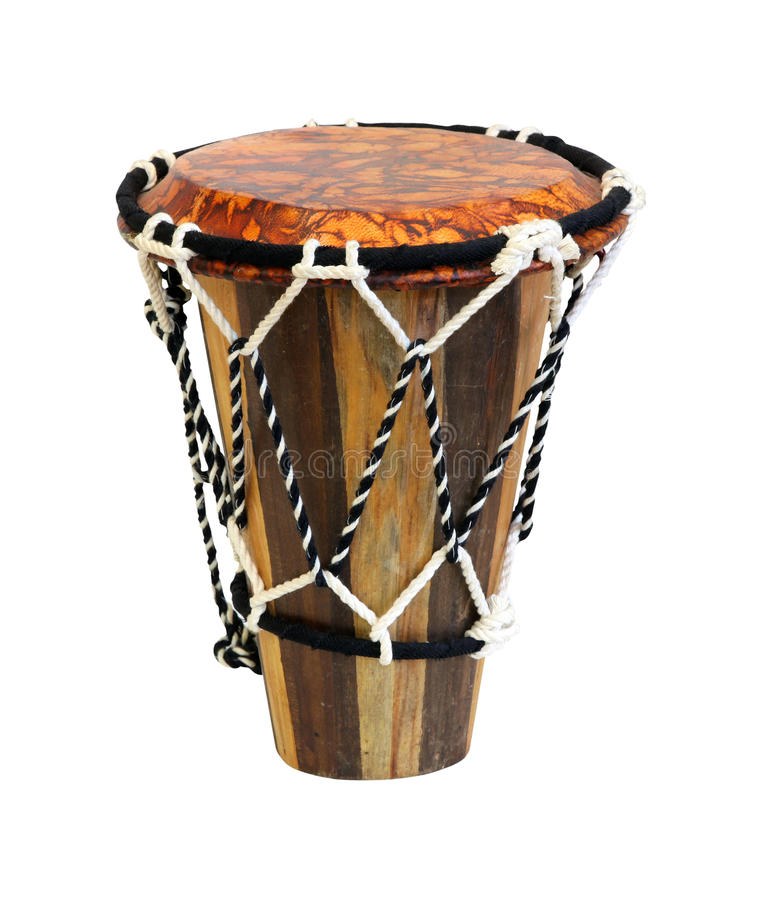 Moroccan drum. Authentic African drum isolated with clipping path included royalty free stock images