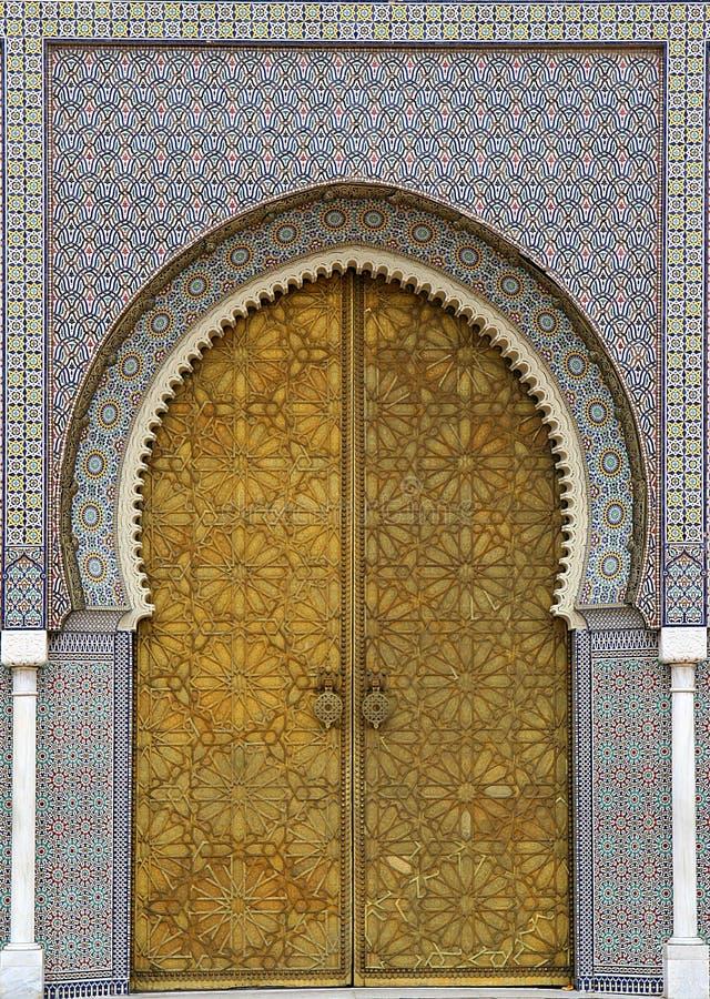 Moroccan entrance (3) stock photo