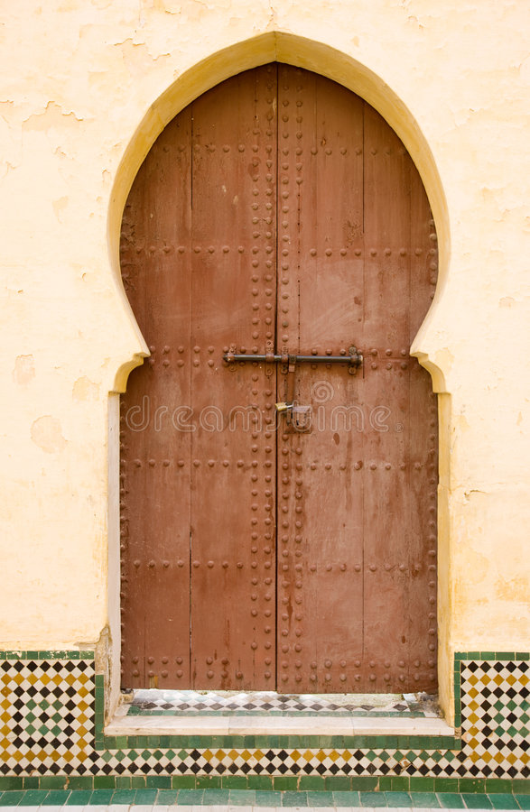 Download Moroccan entrance stock image. Image of morocco, front - 6282695