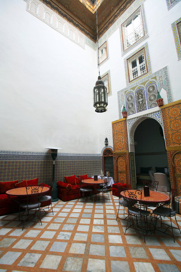 Download Moroccan Indoor Architecture Stock Photo - Image of ancient, detail: 8255598