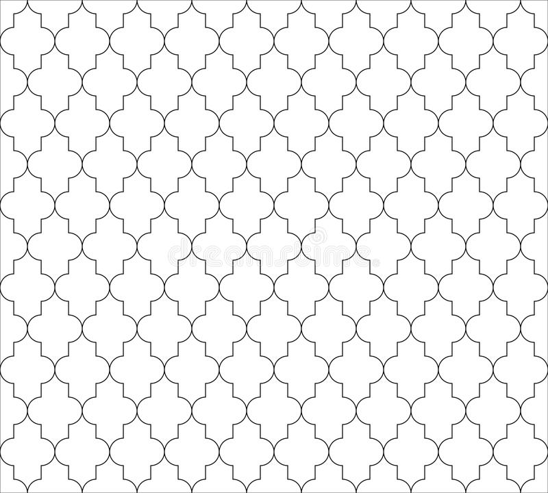 Moroccan islamic seamless pattern background in black and white. Vintage and retro abstract ornamental design. Simple vector illustration