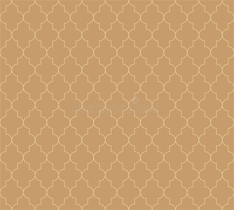 Moroccan islamic seamless pattern background in brown. Vintage and retro abstract ornamental design. Simple flat vector vector illustration