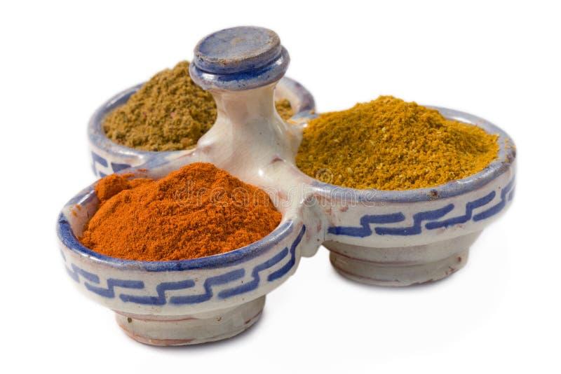 moroccan krydda arkivfoton